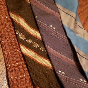Variety Accessories - Four Vintage Ties